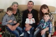 Карашев Аскер Асланович с семьей. г. Терек.